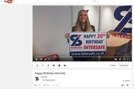 Happy 20th Birthday Intersafe